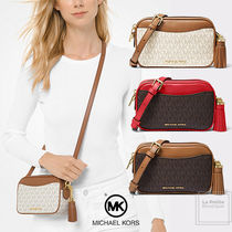 Michael Kors Monogram Casual Style Tassel 3WAY Leather Party Style