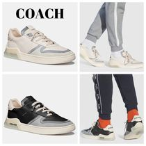 Coach Suede Blended Fabrics Street Style Bi-color Plain Leather