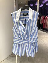 Paule Ka Stripes Sleeveless Cotton Office Style Tanks & Camisoles