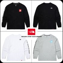 THE NORTH FACE Unisex Street Style Long Sleeves Logo T-Shirt