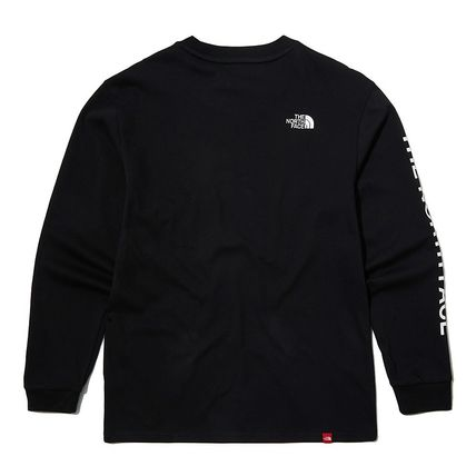 THE NORTH FACE Long Sleeve Unisex Street Style Long Sleeves Logo T-Shirt 3