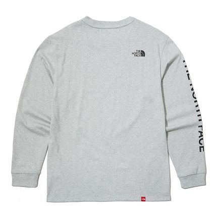 THE NORTH FACE Long Sleeve Unisex Street Style Long Sleeves Logo T-Shirt 16