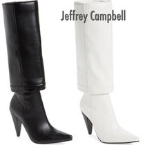 Jeffrey Campbell Casual Style Plain Leather Elegant Style High Heel Boots