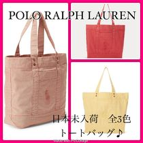 POLO RALPH LAUREN Casual Style Unisex Canvas A4 Totes