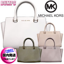 Michael Kors SELMA Casual Style 2WAY Plain Leather Party Style Office Style