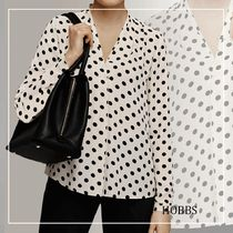 Hobbs London Dots Casual Style Long Sleeves Office Style Elegant Style