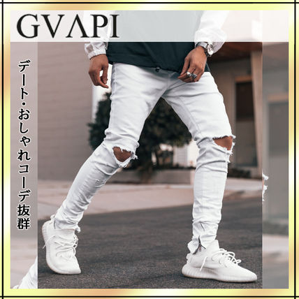GUAPI Skinny Tapered Pants Street Style Skinny Jeans