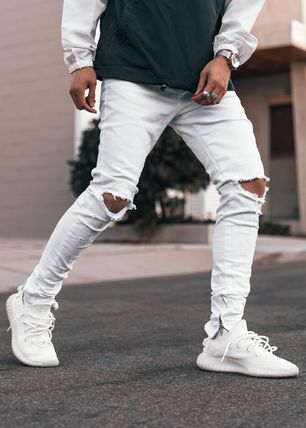 GUAPI Skinny Tapered Pants Street Style Skinny Jeans 2
