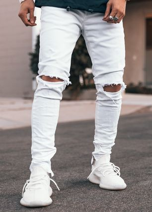 GUAPI Skinny Tapered Pants Street Style Skinny Jeans 3
