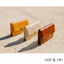 nat&nin Casual Style 2WAY Leather Elegant Style Hip Packs