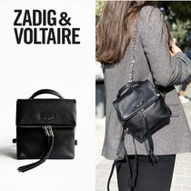 ZADIG & VOLTAIRE Casual Style Plain Leather Office Style Backpacks