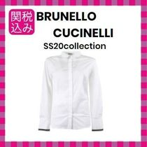 BRUNELLO CUCINELLI Long Sleeves Plain Cotton Shirts & Blouses