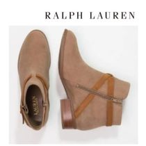 LAUREN RALPH LAUREN Casual Style Leather Block Heels Shoes