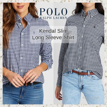 POLO RALPH LAUREN Gingham Casual Style Street Style Long Sleeves Cotton