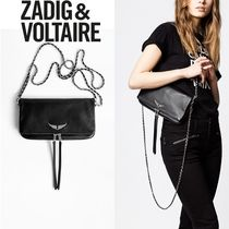 ZADIG & VOLTAIRE Casual Style 2WAY Plain Leather Clutches