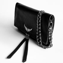ZADIG & VOLTAIRE Clutches Casual Style 2WAY Plain Leather Clutches 4