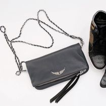 ZADIG & VOLTAIRE Clutches Casual Style 2WAY Plain Leather Clutches 9