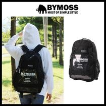 BYMOSS Casual Style Unisex Street Style A4 Plain PVC Clothing