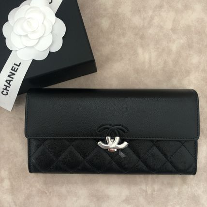 CHANEL Long Wallets Calfskin Long Wallets 6