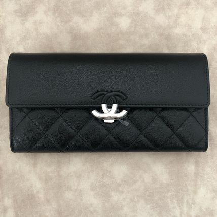 CHANEL Long Wallets Calfskin Long Wallets 7