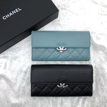 CHANEL MATELASSE Calfskin Long Wallets