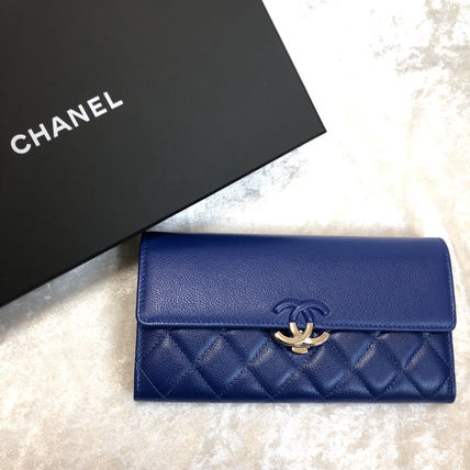 CHANEL Long Wallets Calfskin Long Wallets