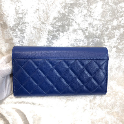 CHANEL Long Wallets Calfskin Long Wallets 4