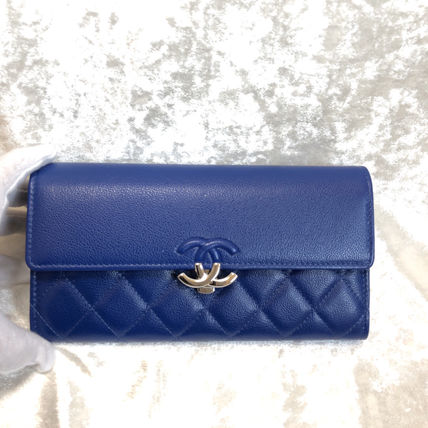 CHANEL Long Wallets Calfskin Long Wallets 15