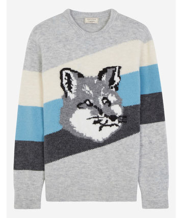 Pullovers Unisex Wool Long Sleeves Other Animal Patterns