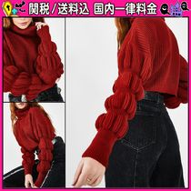 DOLLS KILL Short Casual Style Rib Puffed Sleeves Long Sleeves