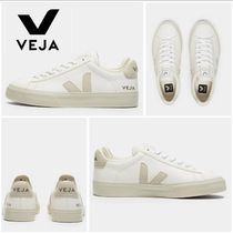 VEJA Lace-up Casual Style Leather Low-Top Sneakers