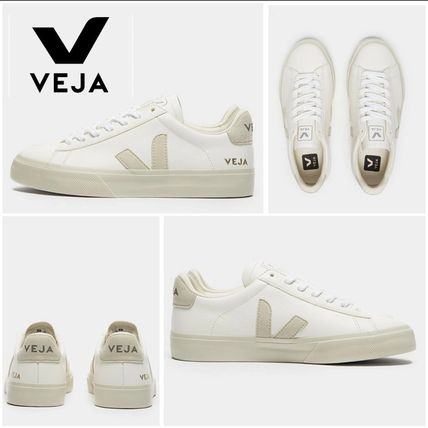 Lace-up Casual Style Leather Logo Low-Top Sneakers