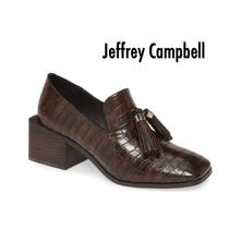 Jeffrey Campbell Square Toe Casual Style Tassel Other Animal Patterns Leather