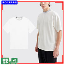 Acne Crew Neck Pullovers Unisex Street Style Plain Short Sleeves