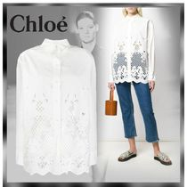 See by Chloe Flower Patterns Long Sleeves Cotton Medium Lace