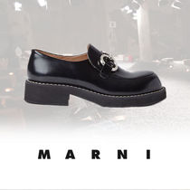 MARNI Loafers Street Style Plain Leather Loafers & Slip-ons