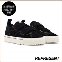 REPRESENT Suede Blended Fabrics Plain Sneakers