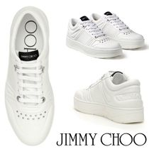 Jimmy Choo Rubber Sole Studded Street Style Plain Leather Logo