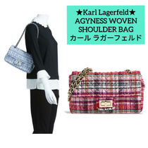 Karl Lagerfeld Casual Style Chain Party Style Elegant Style Shoulder Bags