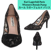 Karl Lagerfeld Flower Patterns Pin Heels Party Style Office Style