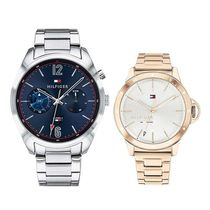 Tommy Hilfiger Casual Style Round Quartz Watches Stainless Bridal
