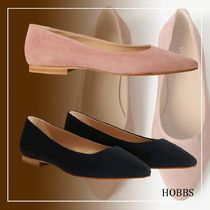 Hobbs London Casual Style Suede Plain Elegant Style Pointed Toe Shoes
