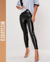 Missguided Casual Style Faux Fur Leather & Faux Leather Pants