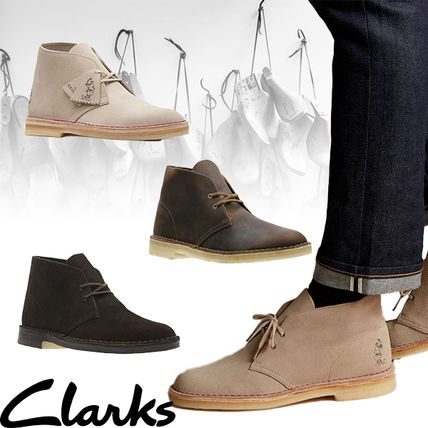 Suede Plain Leather U Tips Chelsea Boots Chelsea Boots