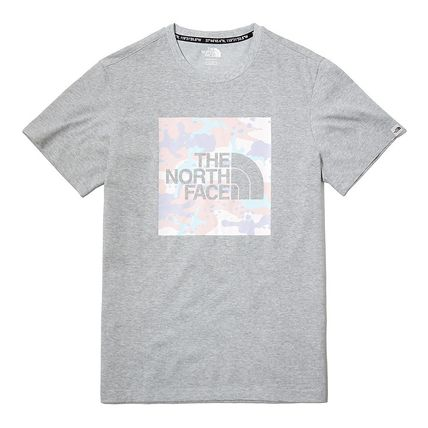 THE NORTH FACE More T-Shirts Unisex Street Style Plain Cotton Logo Outdoor T-Shirts 2