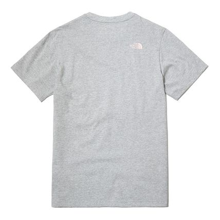 THE NORTH FACE More T-Shirts Unisex Street Style Plain Cotton Logo Outdoor T-Shirts 3