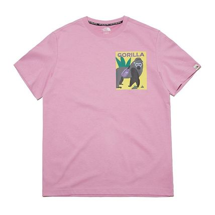 THE NORTH FACE More T-Shirts Unisex Street Style Plain Other Animal Patterns Cotton Logo 8