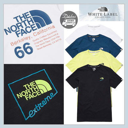 THE NORTH FACE More T-Shirts Unisex Street Style Plain Cotton Logo Outdoor T-Shirts