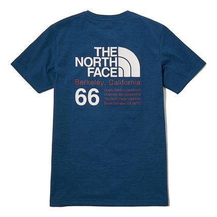 THE NORTH FACE More T-Shirts Unisex Street Style Plain Cotton Logo Outdoor T-Shirts 9