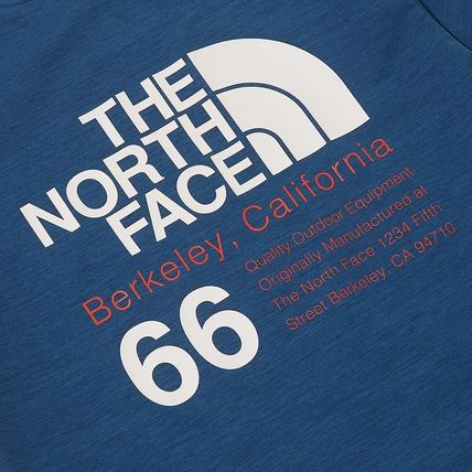 THE NORTH FACE More T-Shirts Unisex Street Style Plain Cotton Logo Outdoor T-Shirts 10